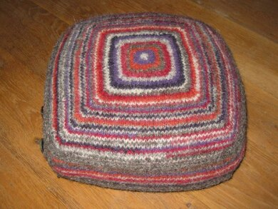 Felted knitted cushion cover #felted #Felting #knitted #affiliate #LoveCrafts
