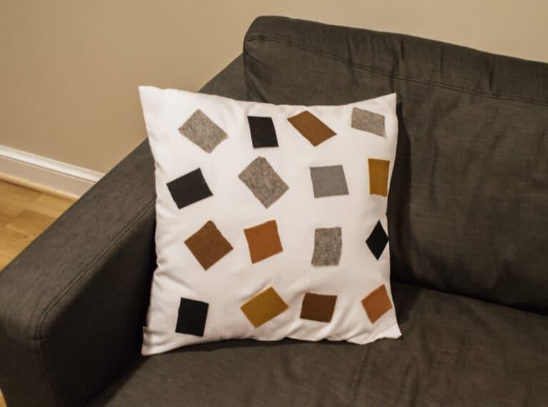 DIY Abstract Felt Cushion Covers
