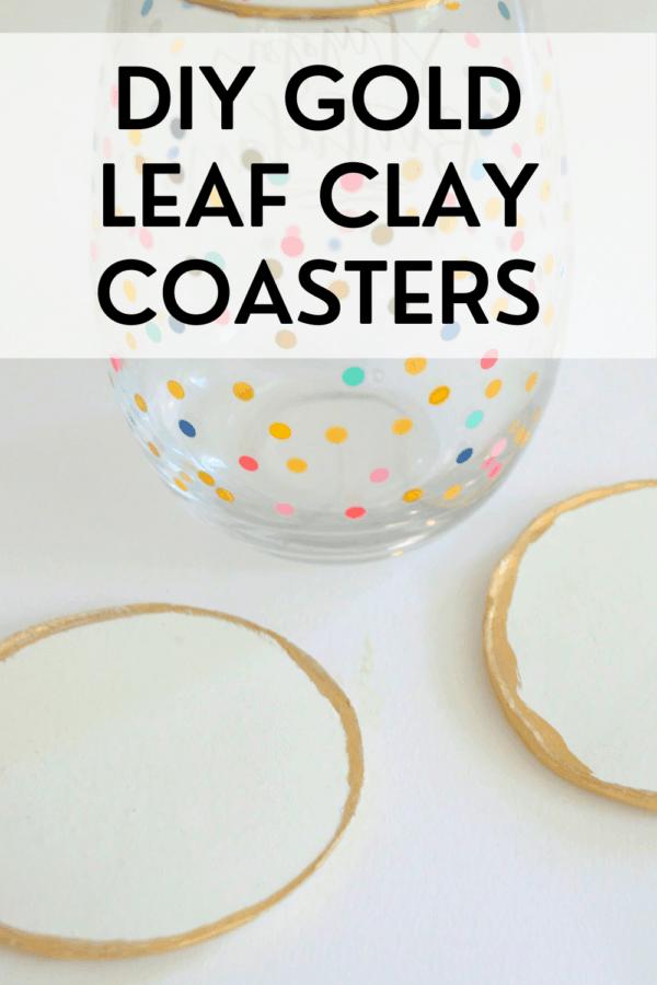 DIY Gold Leaf Coasters