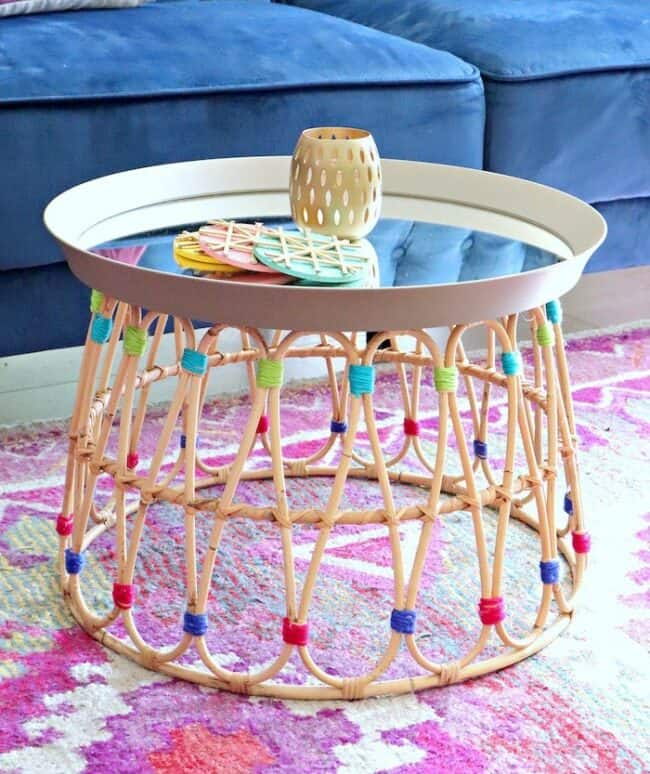 Beautiful colorful IKEA DIY hacks using your favorite IKEA furniture and products