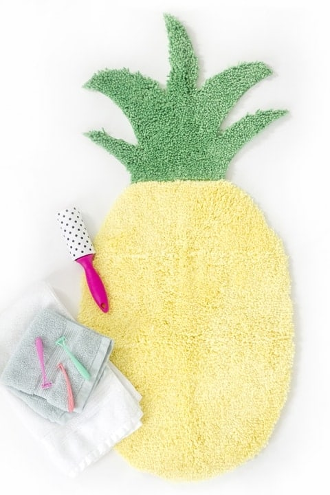 Pineapple Shaped Bath Mat