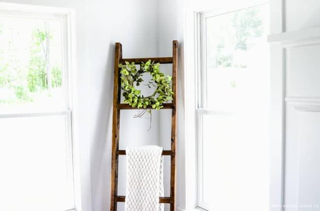 Decorative blanket ladder.