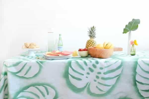 Tropical Leaf Tablecloth