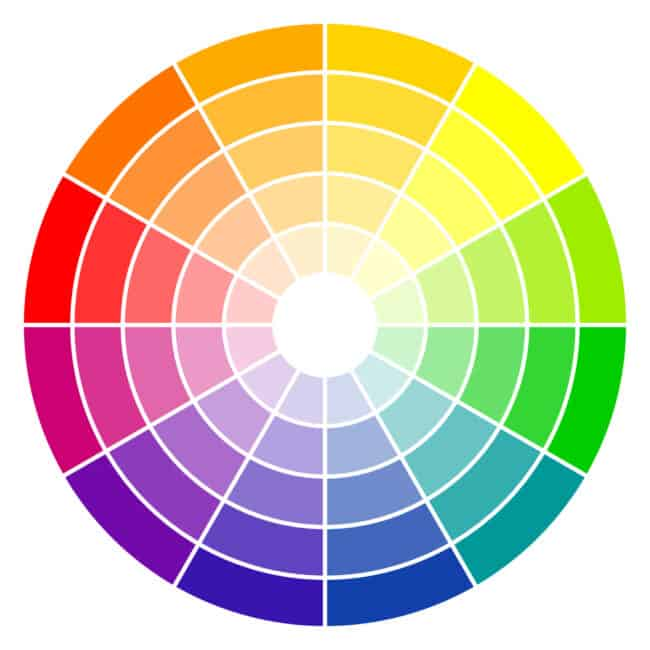 Color theory wheel.