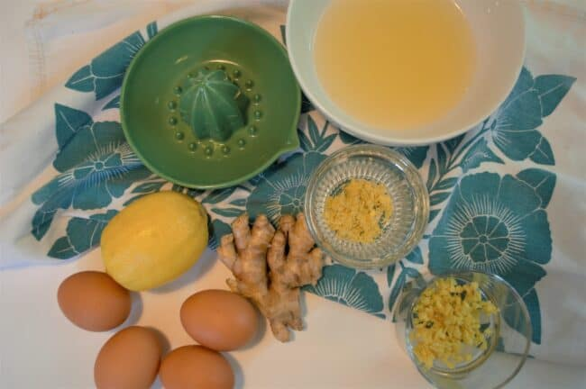 Ingredients for lemon & ginger curd