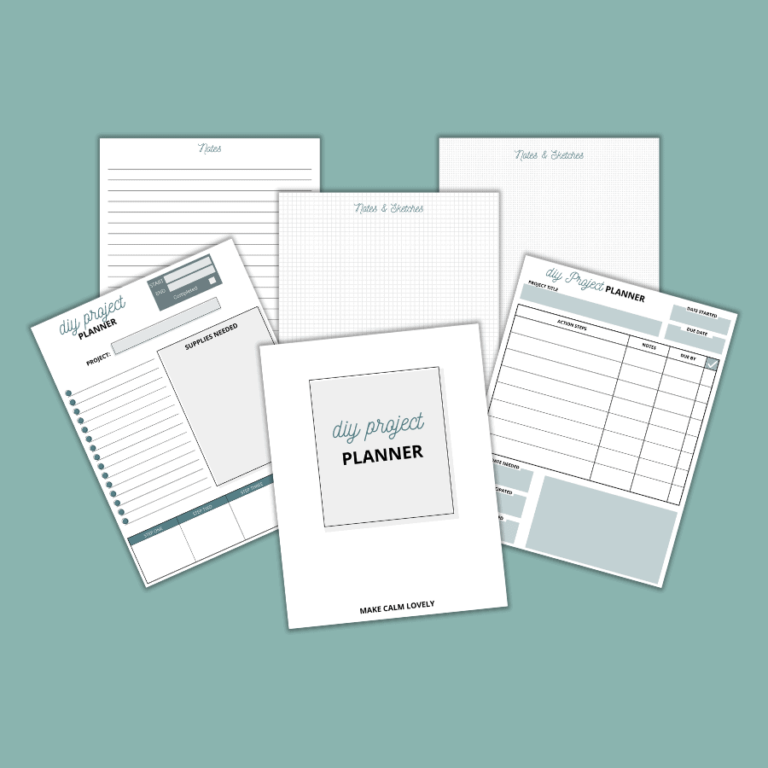 DIY Project Planner: Free Printable Planner