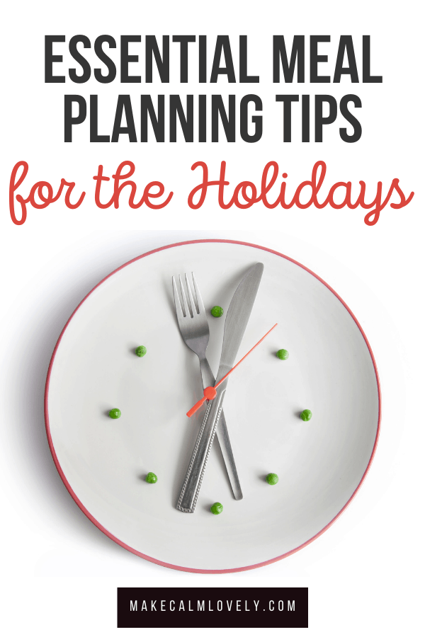 Holiday Meal Planning Tips