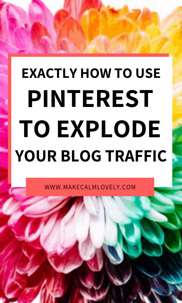 Blog traffic how to from Pinterest