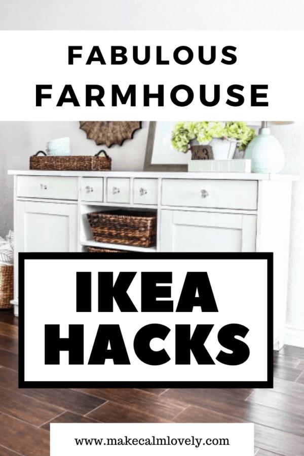 Fabulous Farmhouse IKEA Hacks #IKEA #IKEA Hacks #Farmhouse #Farmhouse DIY