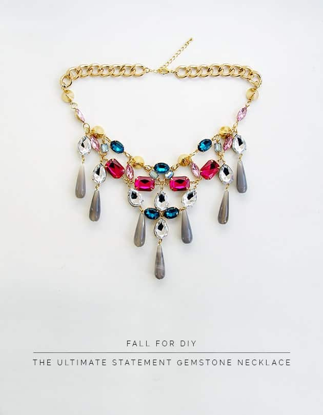 Ultimate Gem Stone Statement necklace