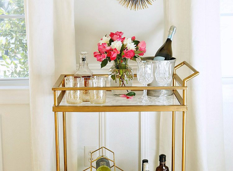 Bar carts: what I am loving right now