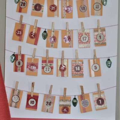 DIY Christmas Advent Calendar #Christmas #Holidays #DIY #AdventCalendar