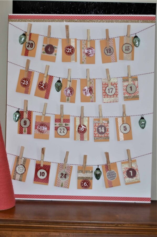 DIY Christmas Advent Calendar #Christmas #Holidays #DIY #AdventCalendar