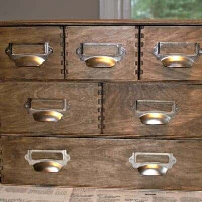DIY IKEA Moppe Apothecary Storage Chest Hack