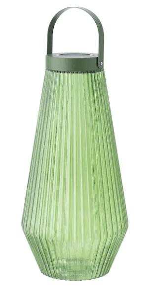 Green outdoor floor lamp