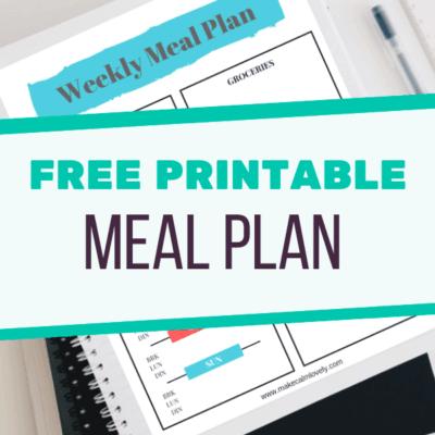 Free Weekly Meal Planner printable