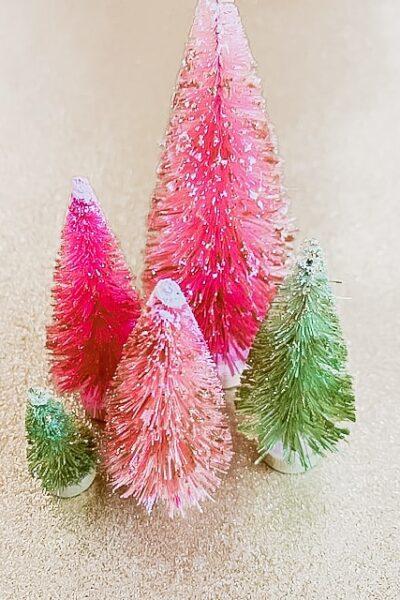 Glittery Trees