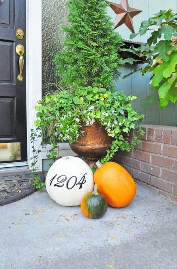 House Number Pumpkin