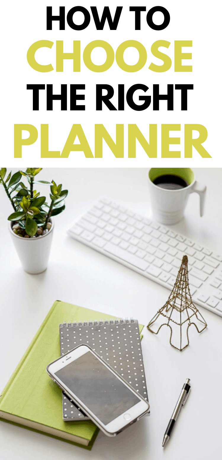 How to choose the right planner for you