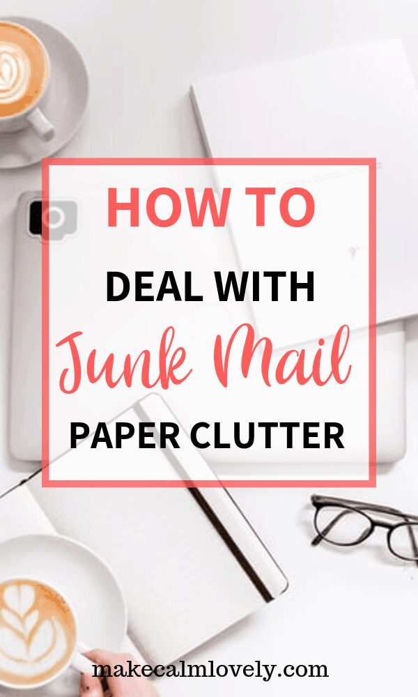 How to deal with junk mail paper clutter #clutter #organization