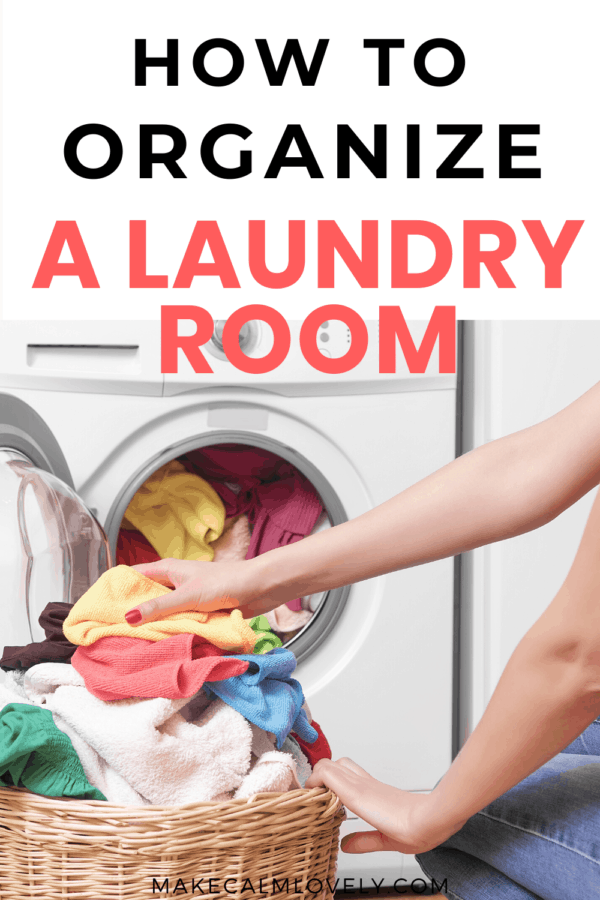 How to Organize a Laundry Room. Tips, Suggestions and free printables to help you organize your laundry room!