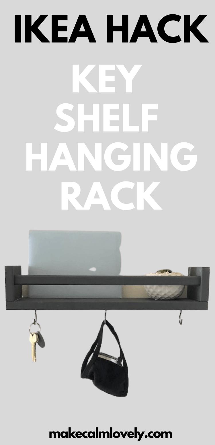IKEA Hack Key Shelf Hanging Rack