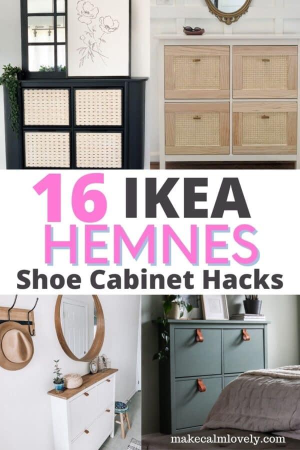 IKEA Hemnes Shoe cabinet hacks