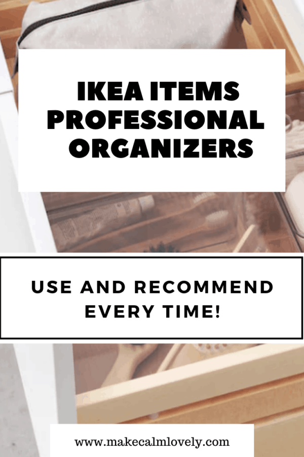 IKEA Items Professional Organizers use & recommend every time #IKEA #organizing #organizers
