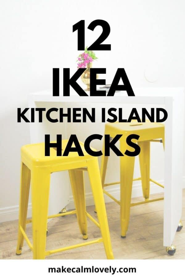 12 IKEA Kitchen Island Hacks that are useful and stylish