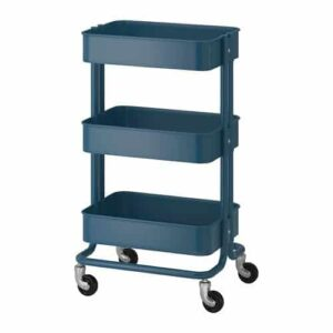 Blue cart with shelves
