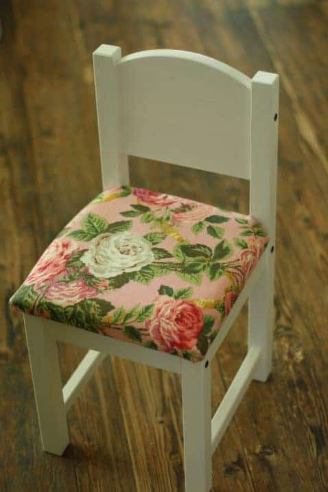 IKEA hack kids upholstered chair