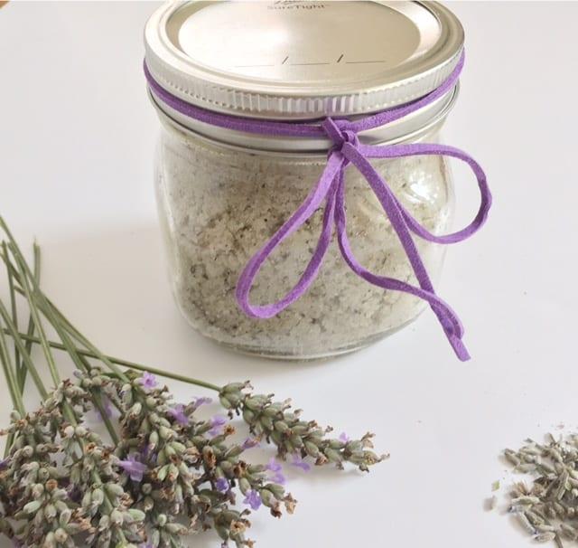 Refreshing calming lavender sugar scrub