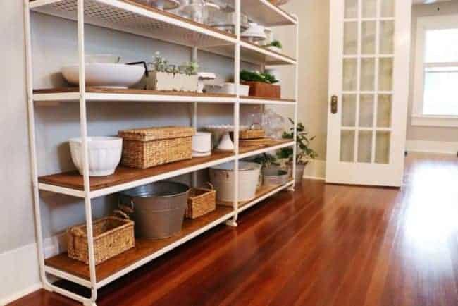 Metal IKEA farmhouse shelves