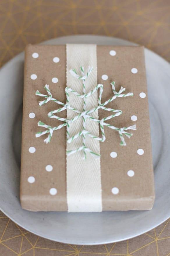 Twine gift wrap