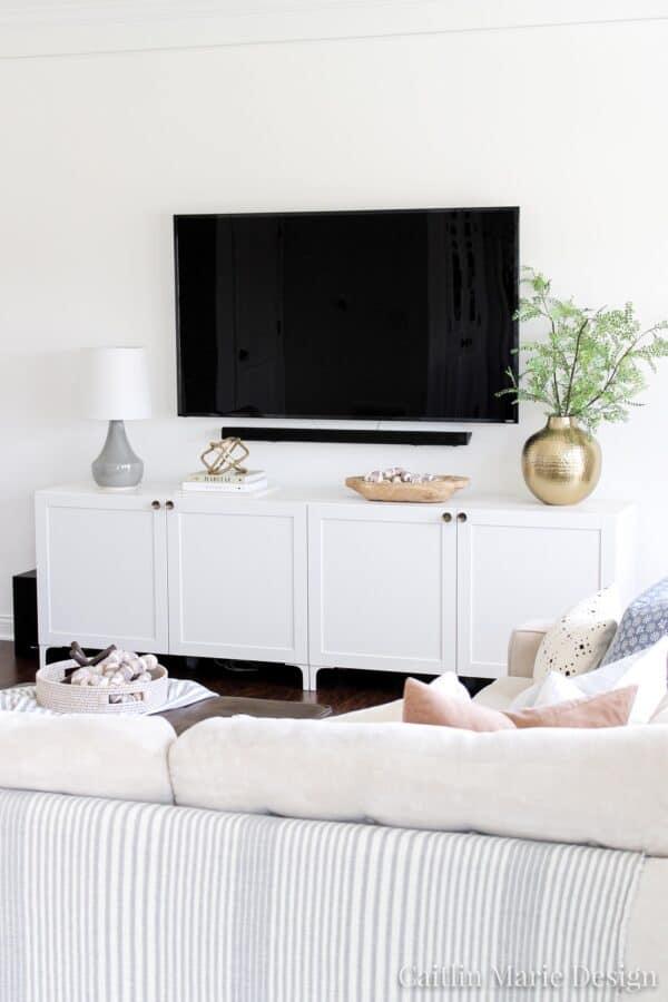 White Besta TV unit.