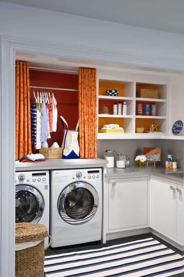 15 Laundry room Ideas & Inspiration.  For style, organization and storage in your laundry room