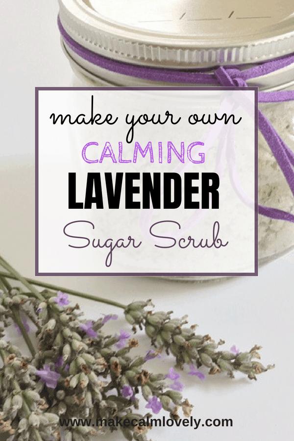 Make your own calming lavender sugar scrub