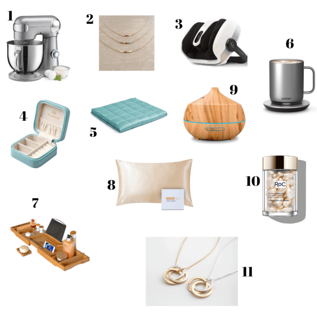 Selection of Mother's Day gift ideas.