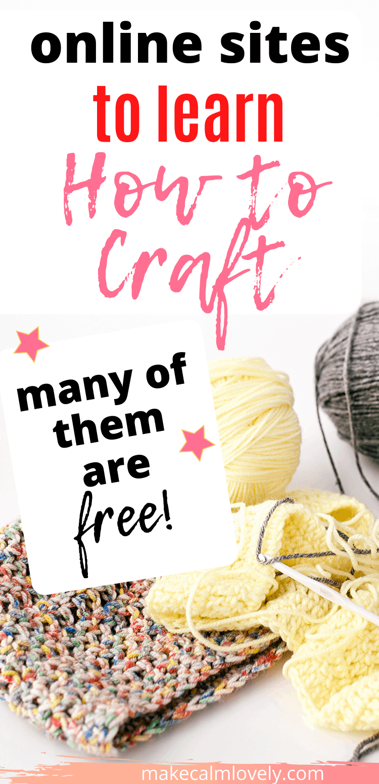 Online sites for craft instruction and guidance