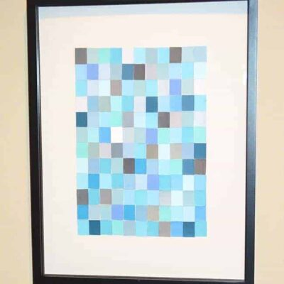 Create a beautiful piece of wall art – using paint chips!