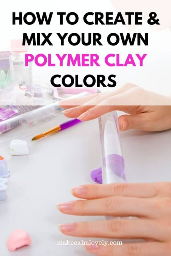 Woman rolling purple clay out with acrylic rolling pin.