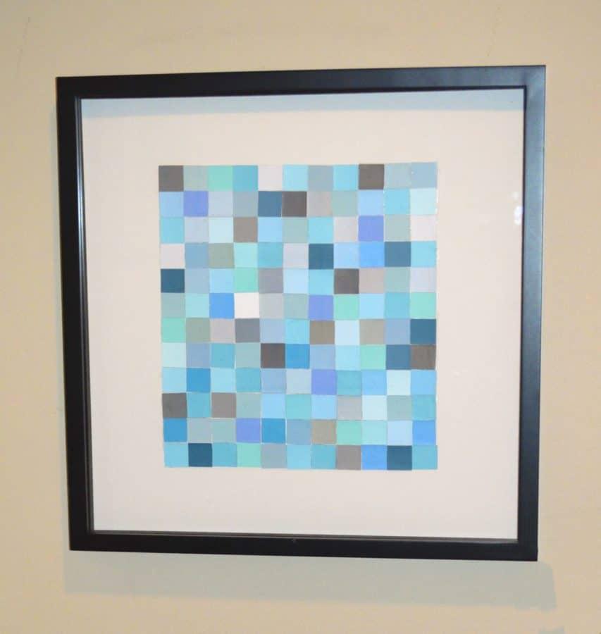 Make paint chip wall art