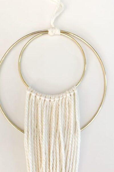 DIY Macrame Ring Wall Hanging