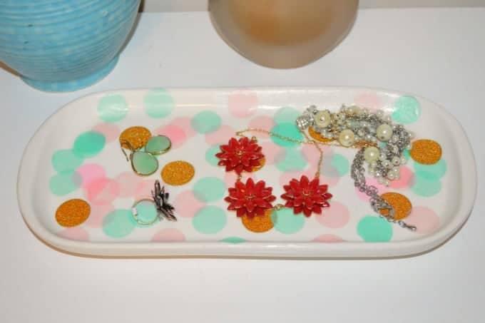 Celebrate with this pretty DIY confetti platter!