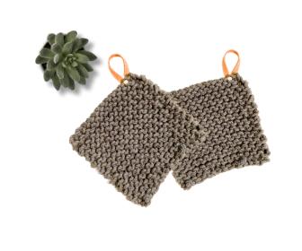 DIY Knitted Potholders