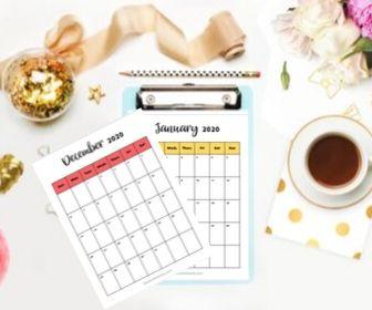 Free Printable 2020 Calendar: Immediate Download!