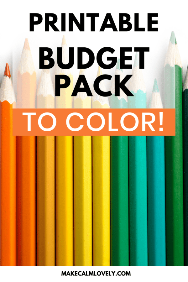 Printable budget pack to color