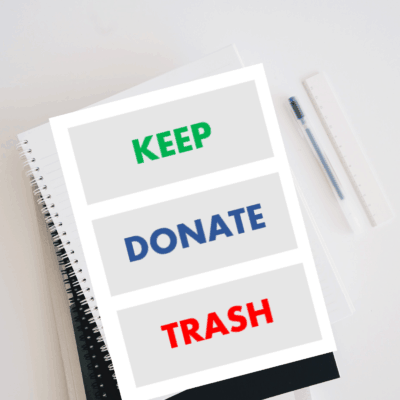 Decluttering Purge Organizing Labels