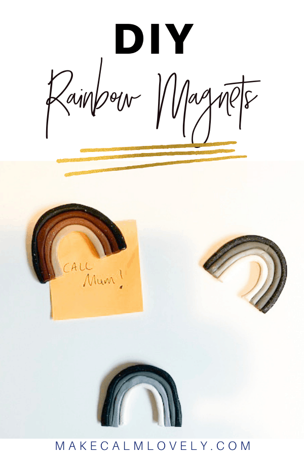 Clay rainbow magnets