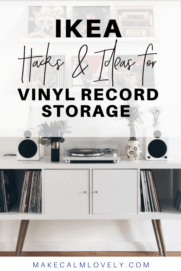 IKEA hacks and ideas for vinyl record storage